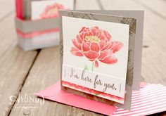 Sneak peek alert! I love how the flower from the You've Got This stamp set looks watercolored with the new In Colors. -Kaitlyn Zumbach