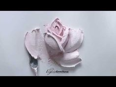 rose - YouTube Plaster Crafts, Plaster Art, Plaster Sculpture, Sculpture Painting, Brush Embroidery, Glue Art, Decoupage Vintage, Painted Cakes, Clay Flowers