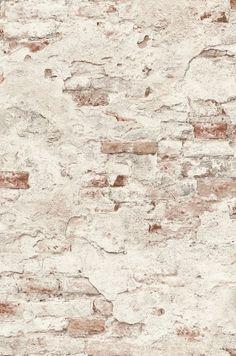 Rasch Factory III 939309 | Behangwebshop.nl Red Brick Wallpaper, Kitchen Wallpaper, White Wallpaper, Wall Wallpaper, Pattern Wallpaper, Farmhouse Wallpaper, Painted Brick Walls, White Brick Walls, Stucco Walls