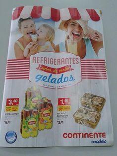 Antevisão Novo Folheto Continente - de 24 de junho a 13 de julho - Refrigerantes e Gelados - Sabor de Verão