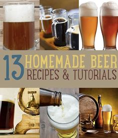 How to make homemade beer including beer recipes, brewing, and different ways to homebrew. Make the beer you're drinking at home the best beer of them all! Brewing Recipes, Homebrew Recipes, Beer Recipes, Make Beer At Home, How To Make Beer, Home Brewery, Home Brewing Beer, More Beer, Wine And Beer