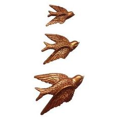 Designed with an attractive copper finish, this set of three flying bird plaques will add a vintage edge to your home. Metal Bird Wall Art, Metal Birds, Burnt Orange Living Room, Brown Bird, Copper Art, Brown Aesthetic, Katniss Everdeen, Lip Piercing, Character Inspiration