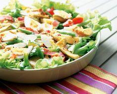 Meetvursti-munasalaatti   K-ruoka Pasta Salad, Cobb Salad, Salad Recipes, Healthy Recipes, Potato Salad, Food And Drink, Keto, Yummy Food, Nutrition