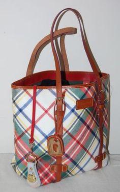 Rare Dooney Bourke Scottish Plaid East West Per Handbag New Nwt