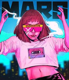 Mars AD Girl She invites you to Mars  #Digital_2D#Comic_Art#Character_Design Art Sketches, Art Drawings, Character Art, Character Design, Arte Cyberpunk, Pop Art Girl, Stoner Art, Psy Art, Grunge Art