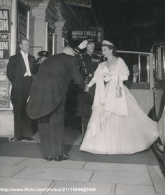 DATE:November 1 1954 D:Queen Elizabeth is greeted as she arrives at the London Palladium.The Queen was at the Palladium to see the Royal Command Variety Performance /original photo Queen Elizabeth, Album, Prince Philip, Edinburgh, Duke, Fictional Characters, Fantasy Characters, Peacocks, Card Book