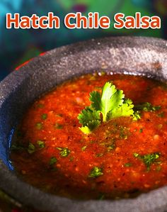 """""""You'll think you're in Mexico when you eat this easy, quick, no-cook salsa. Great on tortilla chips! Hatch Chile Salsa, Tortilla Chips, Mexico, Eat, Cooking, Ethnic Recipes, Food, Meal, Kochen"""