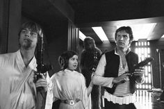Mark Hamill, Carrie Fisher and Harrison Ford, Star Wars 1977...