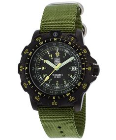 Luminox Men's Recon Point Man Black Dial Green Nylon Strap -- Want to know more, click on the image.