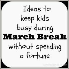 Somerset Lane: Keeping kids Busy during March Break