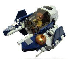 LEGO Ideas - Chibi scale Obi-Wan's Jedi Starfighter