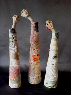 group of ladies- porcelain paperclay
