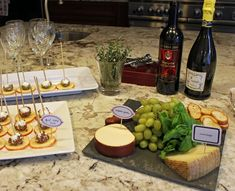 decorations for wine party | love the signs with this wine and cheese party seen on Two Prince ...