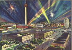 A spectacular visual of #HemisFair '68 and downtown San Antonio