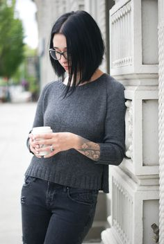 Beckett by Marie Greene [Olive Knits]. Seamless, top-down pullover knitting pattern.