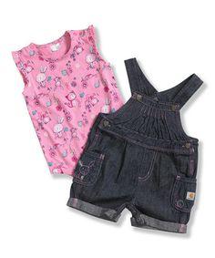 Loving this Pink & Blue Bunny Bodysuit & Shortalls - Infant & Toddler on #zulily! #zulilyfinds
