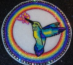 Beaded hummingbird, Custom Beadwork By Taushina https://www.facebook.com/CustomBeadworkByTaushina