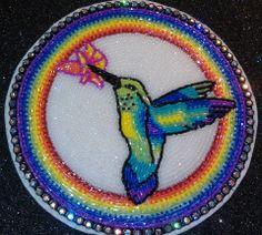 Beaded hummingbird, Custom Beadwork By Taushina https://www.facebook.com/CustomBeadworkByTaushina