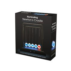 Fizz Creations Illuminating Newtons Cradle - The classic Newton's Cradle has returned, but with a technological twist – the executive desktop gift is now also an interactive lamp. Each sphere now has built in LEDs, allowing you to demonstrate the laws of physics in the dark!