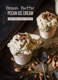Keto Brown Butter Pecan Ice Cream