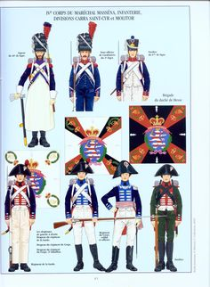 French; Massena's IV Corps, Divisionc, Carra Saint-Cyr & Molitor, 46th Line, 3rd Light & 67th Line Infantry & the Duchy of Hesse Brigade, Wagram, July 1809