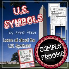 Enjoy this U.S. Symbols Flag Sample FREEBIE!  Then, check out my U.S. Symbols Unit where students will learn all about the significance of the following U.S. Symbols- Washington Monument, Lincoln Memorial, Statue of Liberty, Liberty Bell, Mount Rushmore, the White House, U.S.