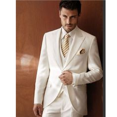 Find More Suits Information about Ivory Peak Lapel Mens Tuxedos Wedding Suit For Men With Pants Custom One Button 3 Piece Groom Jacket+Pants+Tie+Vest NBG81003,High Quality suit cheap,China suit sample Suppliers, Cheap suit wedding from NBG AIH on Aliexpress.com