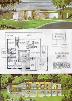 Mid Century Modern house, architectural plans - House Plans, Home Plan Designs, Floor Plans and Blueprints The Plan, How To Plan, Vintage Architecture, Architecture Plan, Modern House Floor Plans, Midcentury Modern House Plans, Modern House Design, Vintage House Plans, Vintage Houses