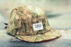 The Worlds Original Face  TWO Face London3rd Edition 5 panel cap, hat- Sandy corduroy Khaki paisley  - Nylon strapSupreme condition, only the best quality