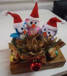 Corujinhas de Natal Rosangela Ceretta