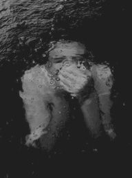 Sometimes I feel exactly like this; like I'm drowning, I can't breathe, I'm out of my depth...just treading water in life generally.