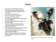 The 19th Legion Primarch... Corax of the Raven Guard