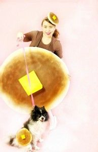 Ladies and Dog Pancake Halloween Costumes