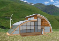 Some people may rarely hear about Quonset Hut Homes. What is actually quonset hut? Quonset hut is a structure with a semicircular shape and it is completed with long steel which is self-supporting and. The steel which is used is wavy. Hut House, Dome House, Tiny House, Casa Bunker, Quonset Hut Homes, Casas Containers, Home Modern, Arch House, Unusual Homes