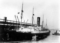 Rescue ship: The Carpathia lies at anchor after bringing in survivors from the Titanic disaster in April 1912.