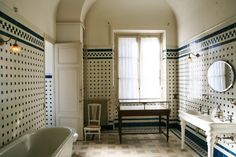The master bath in Paris's Musée Nissim de Camondo. #thearchitectseye