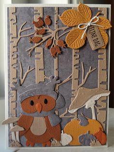 Handmade Headbands, Handmade Soaps, Handmade Crafts, Handmade Rugs, Marianne Design Cards, Bird Cards, Handmade Journals, Animal Cards, Fall Cards