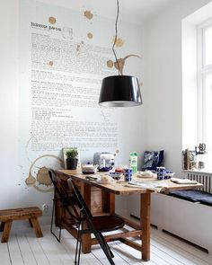 I love when people write recipes on their kitchen wall.  such fun & easy diy. and just plain good looking!  tx  PS want more inspiration? find another good one here