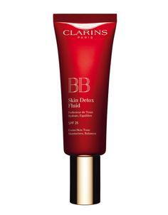 Pour un teint zéro défaut et une peau protégée de la pollution, BB Skin Detox Fluid SPF 25, Clarins
