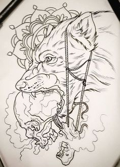 Cool wolf tattoo design ideas suitable for you who loves spirit animal 25 Wolf Tattoos, Skull Tattoos, Animal Tattoos, Leg Tattoos, Body Art Tattoos, Sleeve Tattoos, Wolf Tattoo Design, Wolf Design, Tattoo Design Drawings