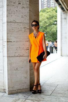 #dresscolorfully orange pop