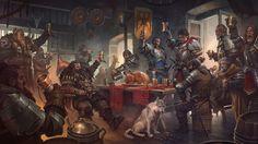 "anksgiving"", Jaime Martinez : Thanksgiving art made for Gameloft ""March of Empires"" Fantasy City, Fantasy Places, Fantasy Warrior, Fantasy Rpg, Medieval Fantasy, Fantasy Artwork, Fantasy World, Dark Fantasy, Dcc Rpg"