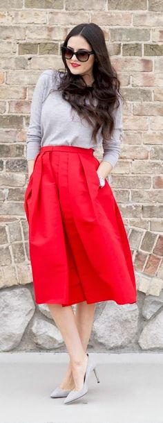 Red Holiday chic +  Best Street Fashion