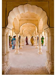 Amber Palace, one of the many breath-taking centuries-old buildings in and around the princely city of Jaipur, in northern India.