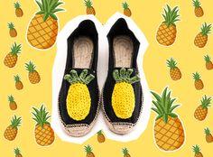 Espadrillas nero con Ananas crochet di BettaKnit, Filati e Kit Maglia di qualità su DaWanda.com