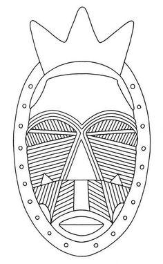 african mask, geometric scarification pattern African Art Projects, Afrique Art, 6th Grade Art, Thinking Day, Masks Art, Middle School Art, Arts Ed, Tribal Patterns, African Masks