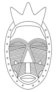 african mask, geometric scarification pattern