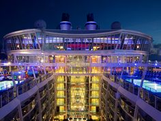Oasis night lights. #cruise