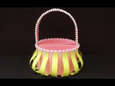 DIY Christmas Gift Basket : How to Make Cute Handmade Foam Basket for Christmas Chocolates & Gifts! - YouTube