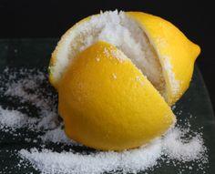 The beginnings of preserved lemons.